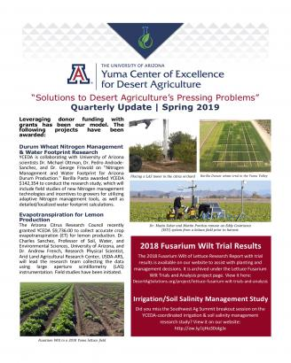 Reports and Updates   Yuma Center of Excellence for Desert