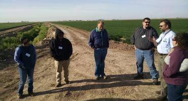 visiting fields and discussion on bird intrusions